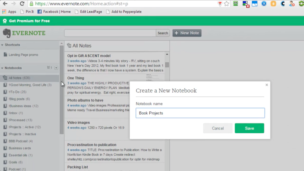 use evernote to write a book