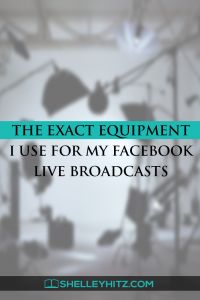 The EXACT equipment I use for my Facebook Live broadcasts