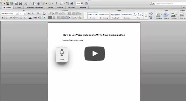 voice dictation on a mac